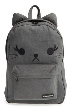 383aa2ca9c Loungefly Denim Cat Backpack (Girls) available at #Nordstrom Cool Backpacks  For Girls,