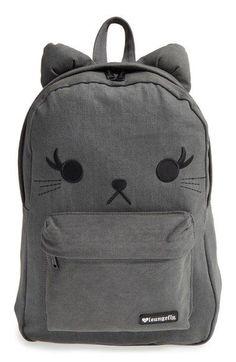 682e82d098e Loungefly Denim Cat Backpack (Girls) available at #Nordstrom Cool Backpacks  For Girls,