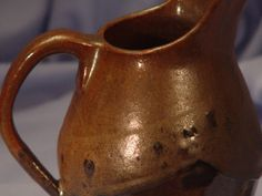 Pitcher Ewer Jug pottery Brown Melty Chocolate Wheel by BWDArtCo, $50.00