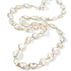 Allia 36 inch quarz necklace