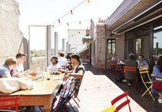 Moran & Cato Building: From Basement to Rooftop- from offices, studios to cafe/dining
