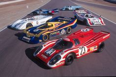 The extremely fast classic Porsche 917 won Le Mans and lots of other prestigious races and events and is one of the most sought after race cars ever built. Porsche 550, Porsche Autos, Porsche Carrera Gt, Porsche Club, Porsche Motorsport, Can Am, Steve Mcqueen, Supercars, Ferrari