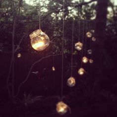 The perfect decorations for an outdoor housewarming #Garden #lights #candles #home #hipster