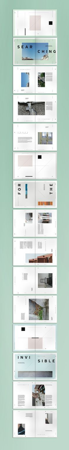 Great use of negative space. Designer: Grigoris Giannoulopoulos #layout #printdesign