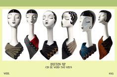 Vividworks Scarves. Felt designs by Den Jones