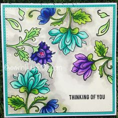 Altenew Persian Motif Watercolour Card