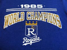 Vintage 1985 ROYALS T-shirt/ Original World Champions KANSAS City MLB Baseball World Series Shirt/ Perfectly Worn Soft And Smooth Tee via Etsy