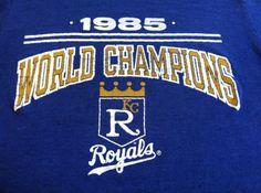Vintage 1985 ROYALS T-shirt/ Original World Champions KANSAS City MLB Baseball World Series Shirt/ Perfectly Worn Soft And Smooth Tee via Etsy