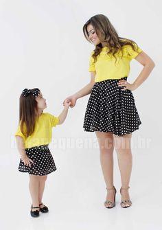 Conjuntos de poá Mãe e Filha - http://belapequena.com.br/produtos/4/roupas-tal-mae-tal-filha/19/vestidos