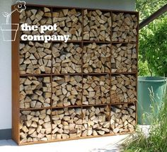 Corten Steel Wood Storage Adezz