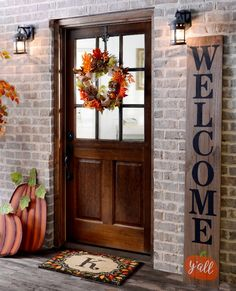 front door decorating fall    of neutral shades and fall colors