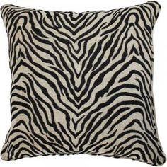 Black & Tan Zebra Pillow