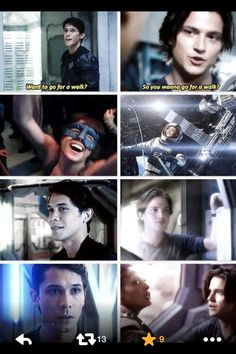 So alike and they didn't even realise it #BellamyBlake #FinnCollins