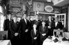 Groomsmen photo in the Moose and Goose Lounge at the Lake Lure Inn.  Camilla Calnan Photography.