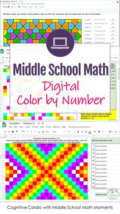 Math Classroom, Classroom Activities, Learning Activities, Teaching Math, Maths, Fifth Grade Math, Number Activities, Math Intervention, Color By Numbers