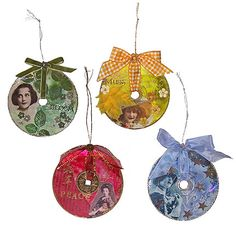 Go Make Something » Altered CD ornaments