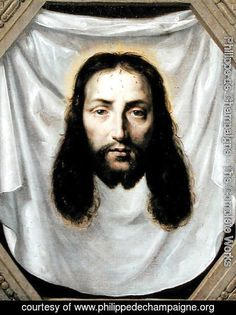 Learn more about The Shroud of St. Veronica Philippe de Champaigne - oil artwork, painted by one of the most celebrated masters in the history of art. Veil Of Veronica, St Veronica, Oil On Canvas, Canvas Art, Canvas Prints, Verona, Philippe De Champaigne, Jesus Face, Baroque Art