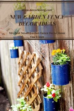 With a little creativity and skill and using only salvage items, you can easily decorate your garden fence to grab the attention of your guests or passers-by on the street.  #gardenfencedecoration #smallgardenfence #diygardenfence #gardenfence #backyardgardenfence