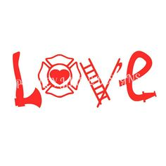 Fire Love Decal // Firefighter // by PaisleyJaydeDesigns on Etsy