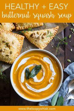 Squash Soup Recipe Easy, Roasted Pumpkin Soup Recipe, Butternut Squash Soup Healthy, Vegan Pumpkin Soup, Roast Pumpkin Soup, Roasted Butternut Squash Soup, Healthy Soup, Creamy Pumpkin Soup, Vegetarian Soup