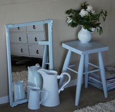 Stool, painted with Chalk Paint. Blossom & Co Furniture Design