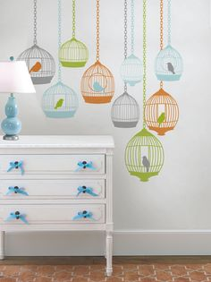 So pretty and so easy to do for a girls room.  St. Tropez Room