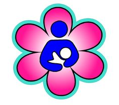 International Breastfeeding Symbol Flower Vinyl Decal. Customized with your choice of up to 3 colors.  $3 at MecaBrush.com
