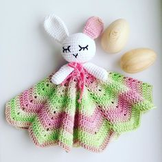 One more Bunny added to Baby Security Blanket collection  Over the weekend I will add all off them to both my shops  by ecoteething