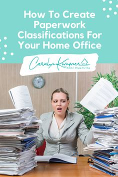 How To Create Paperwork Classifications For Your Home Office! Home office, home office ideas, home office diy decor, home office design, home office organization. Home & Office Decor, Cool Home Office, Modern Home and Office, Home Office Hacks, Home office ideas, home office decor, home office design. #cozyhomeofficeideas #homeoffice #cozyhomeofficedecor #modernhomeoffice Bathroom Closet Organization, Home Office Organization, Organization Ideas, Organizing, Office Hacks, Office Ideas, Office Decor, Cozy Home Office, Decluttering