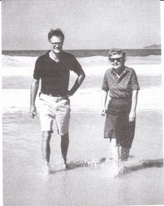 mid-20th century American poets (& best friends) Robert Lowell & Elizabeth Bishop