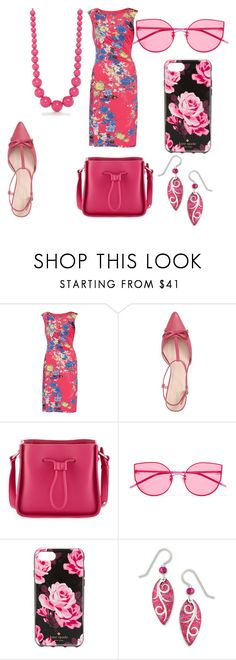 """""""pink sunglasses"""" by shannongarner ❤ liked on Polyvore featuring Gina Bacconi, Kate Spade, 3.1 Phillip Lim, Gentle Monster, Sienna Sky and Kim Rogers"""