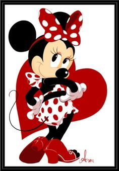 The Disney Minnie pin up star Disney Mickey Mouse, Mickey Mouse E Amigos, Retro Disney, Mickey Mouse And Friends, Minnie Mouse Party, Disney Love, Theme Mickey, Disney Valentines, Mikey Mouse