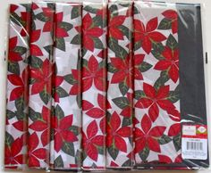 Christmas Poinsettia and Dark Grey Tissue Paper, 20' X 20 1/4' sheets, 30 sheets poinsettia, 30 sheets gray. *** Read more reviews of the product by visiting the link on the image.