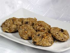 Recipe for healthy apple cookies, full of energy. Cookie Recipes, Dessert Recipes, Desserts, Apple Cookies, Valspar, Baking Tins, Biscotti, Kids Meals, Muffin