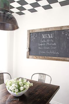 19 amazing kitchen decorating ideas | chalkboards, menu and kitchens