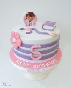 Doc McStuffins theme birthday cake by Sugar & Spice Gourmandise Gifts https://www.facebook.com/SugarandSpiceGourmandise