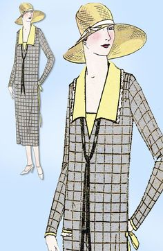 1920s Vintage Ladies Home Journal Pattern 4576 Misses Flapper Dress Size 38 Bust #LadiesHomeJournalPattern #FlapperDressPattern