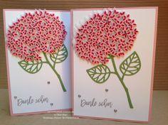 """Stampin' Up! Karte mit dem Stempelset """"Wald der Worte"""" und den Thinlits """"Blatt und Blüte"""""""