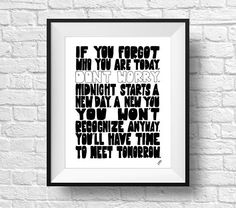 Forgot Who You Are Quote Wall Decal Quote Prints Black and