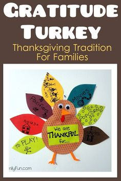 Thanksgiving Tradition for Families. Thanksgiving activity for kids. - Click image to find more Holidays & Events Pinterest pins