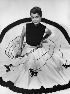 Juli Lynn Charlot - designed the famous Poodle Skirts. Classic 1950