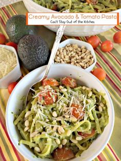 Creamy Avocado and Tomato Pasta | @teresaambra  | #glutenfree #meatlessmondays