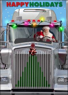 Truck Driver Christmas Card b y Ziti Cards!