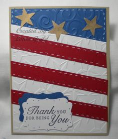 Nothin' Fancy: Embossed Flag Card