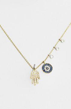 MeiraT 'Desert Infusion' Diamond & Sapphire Pendant Necklace