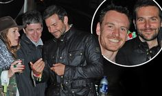 Bradley Cooper, Michael Fassbender and Noel Gallagher party at Glasto #DailyMail