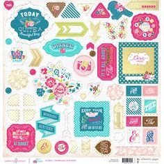 These would be perfect with a Webster's Pages Planner.  Can't wait to get one! Chipboard Sticker Board- Sweet Routine