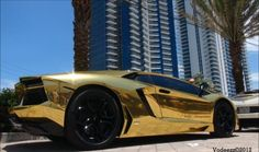 Project AU79, Lamborghini Aventador Foil Wrapped Gold - $500,000