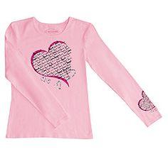 Cherokee Workwear Pink Ribbon Long Sleeve Crew Neck Tee Available at MarcusUniforms.com
