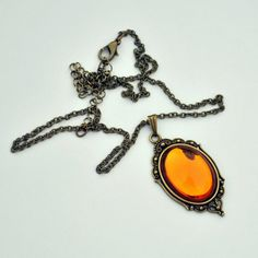 the Princess Citrine necklace by TartanHearts on etsy, $14.75